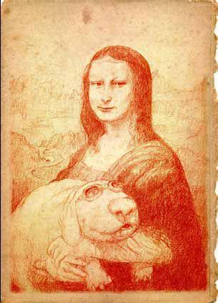 La Joconde d'après Nicolas de Crécy © Nicolas de Crécy