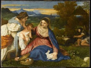 Titien Vierge au lapin