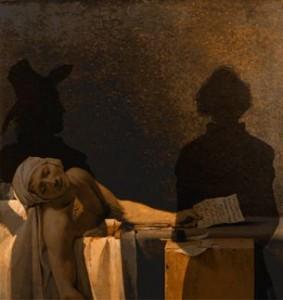 la mort de Marat, de David, revisité par Bernar Yslaire