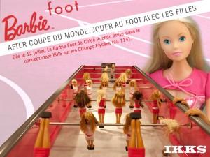 la coupe de monde continue chez les filles avec le barbie foot de chlo ruchon chez ikks. Black Bedroom Furniture Sets. Home Design Ideas