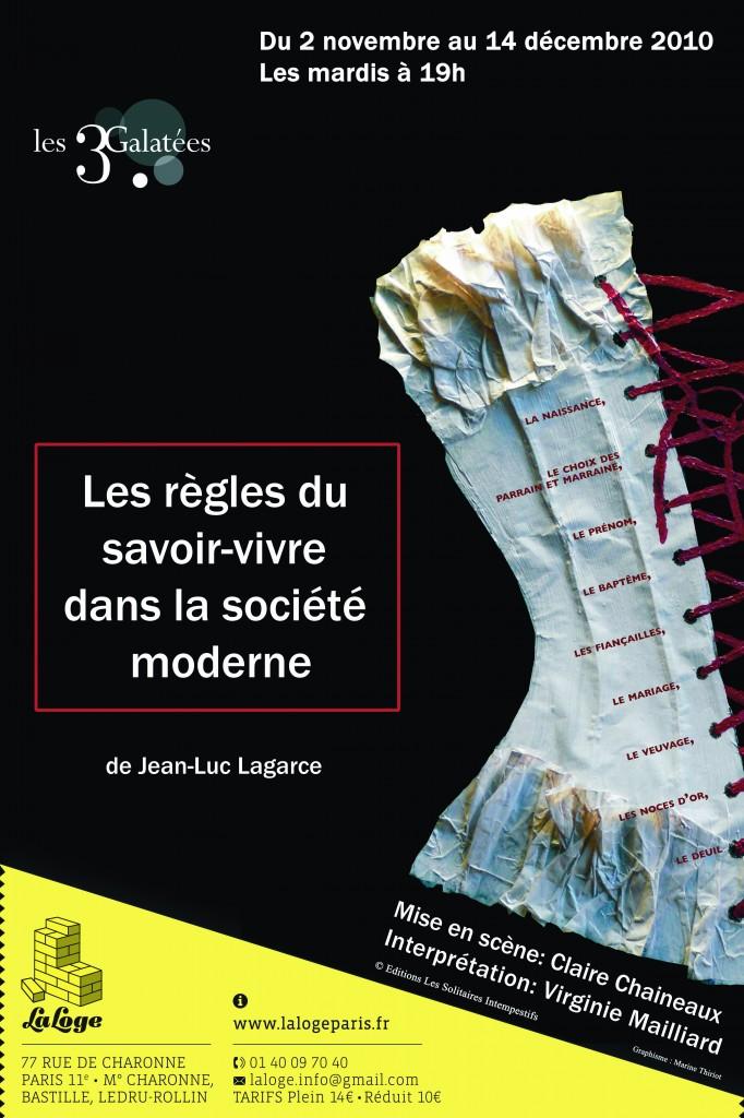 Gagnez 2×2 places pour Les règles du savoir-vivre dans la société moderne à La Loge!