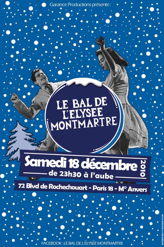 Gagner 2×2 places pour le Bal de l'Elysée Montmartre le 18 décembre 2010