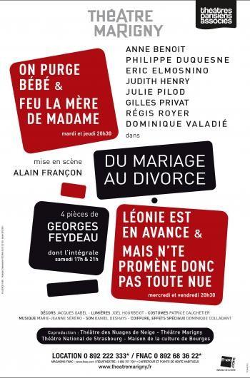 Du Mariage au Divorce au théâtre Marigny