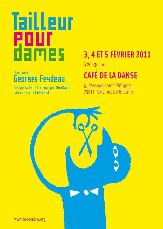 Tailleur pour dames, un Feydeau revisité au Café de la Danse