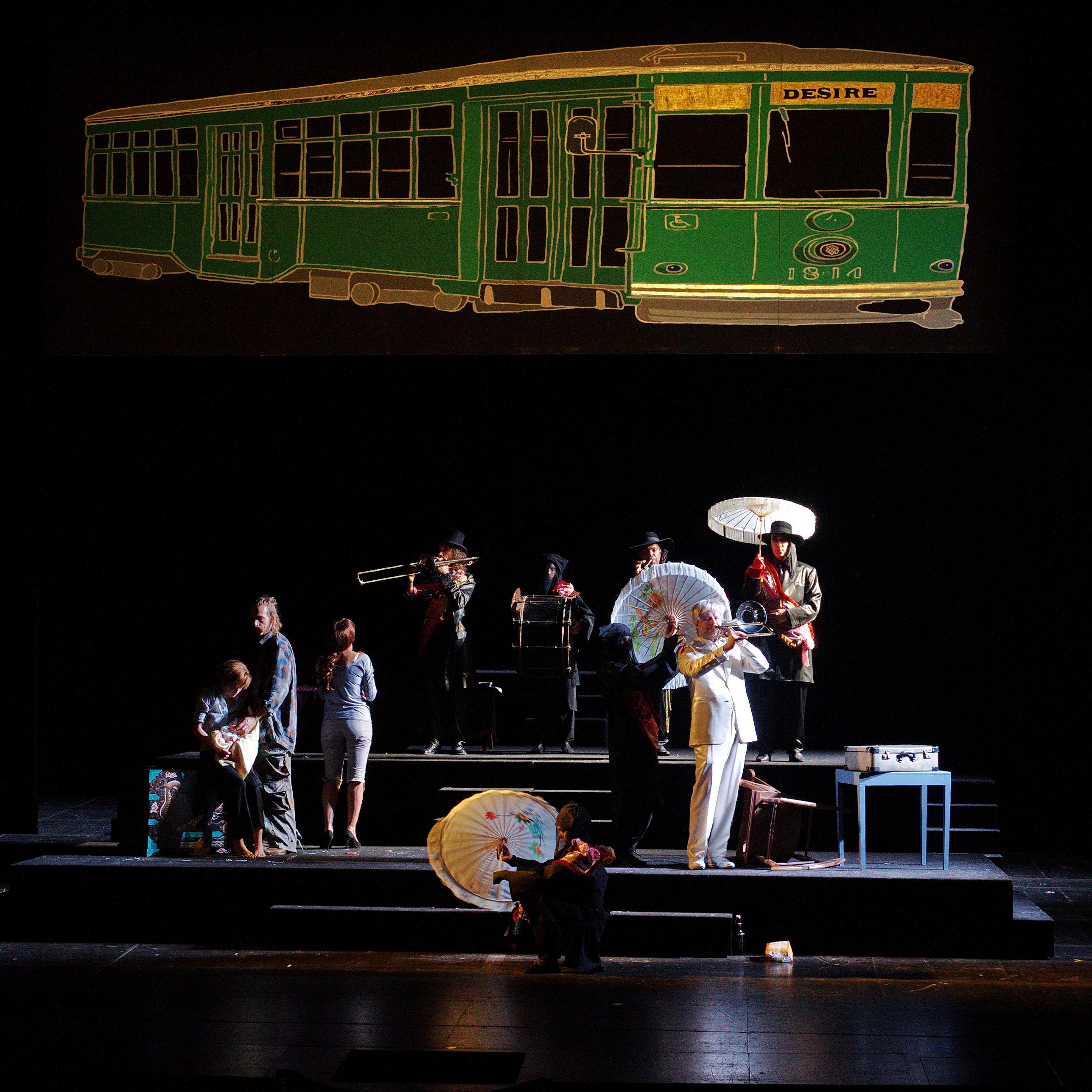 Un tramway inventif à la Comédie Française