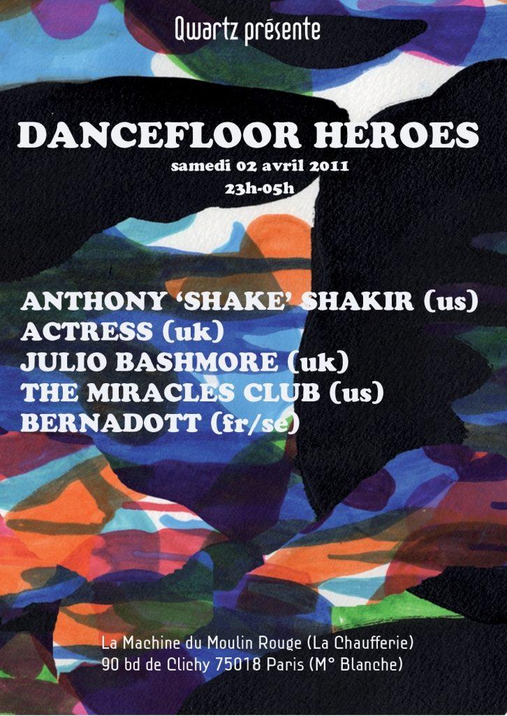 Gagnez vos places pour la soirée Dancefloor Heroes le 2 avril 2011
