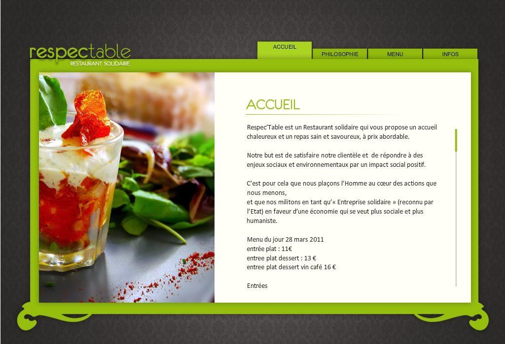 Respec'Table, Restaurant Solidaire