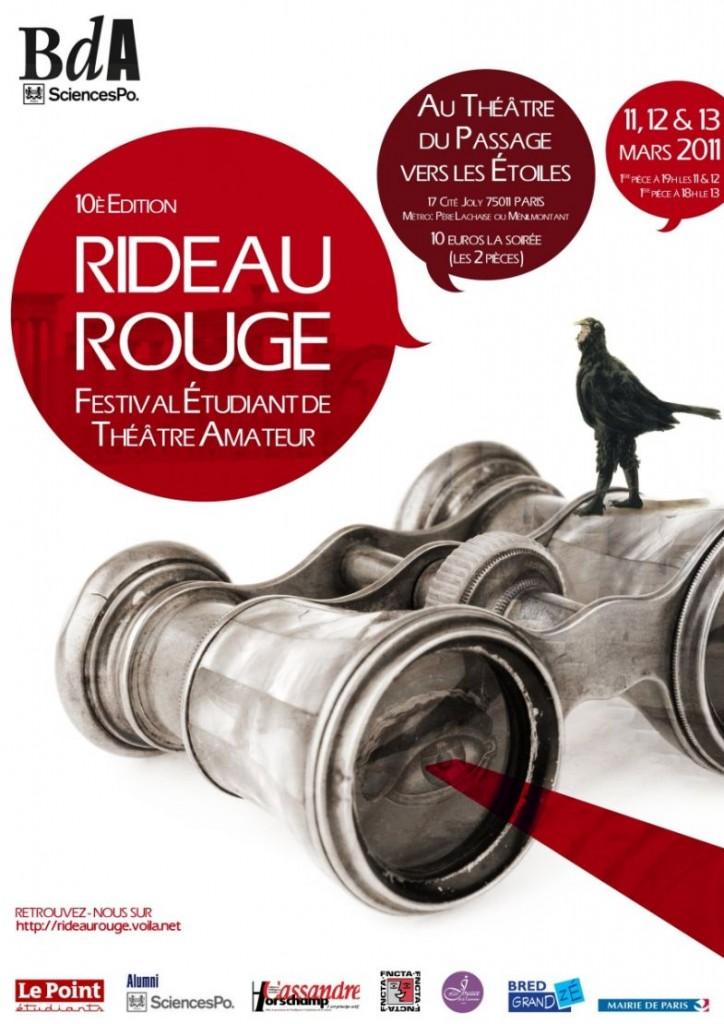 Festival Rideau Rouge: du théâtre amateur et étudiant les 11, 12 et 13 mars 2011!