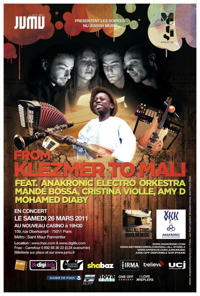Gagnez 2×10 places pour le concert de Anakronic Electro Orkestra et Mandé Bossa au Nouveau Casino le 26 mars