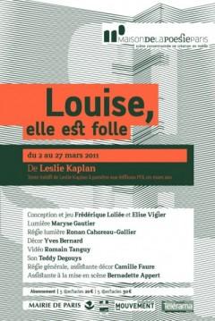 Louise, elle est folle réinvente l'éternel féminin à la Maison de la Poésie