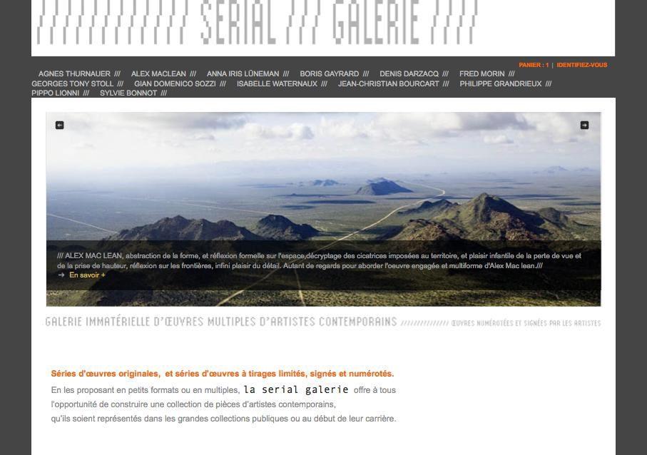 Nouveau sur le net : la Serial galerie ou l'achat d'oeuvres d'art à prix accessibles