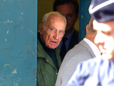 French Nazi collaborator Maurice Papon, 92, is released from jail in Paris, September 18, 2002 after..