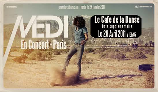 Medi en concert au Café de la Danse