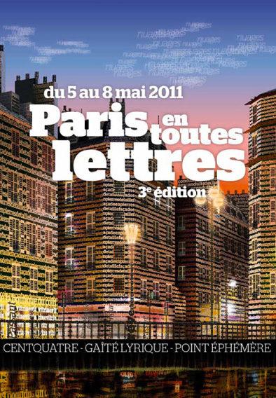 Paris en toutes lettres démarre le 5 mai à la Gaîté lyrique