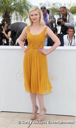 Look du jour Cannes : Kirsten Dunst en Chloé