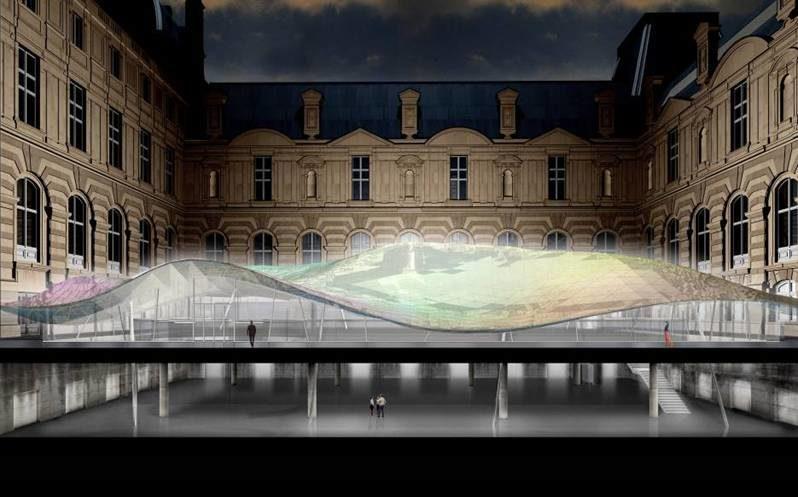 La cour Visconti du Louvre se prépare à accueillir les  Arts de l'Islam