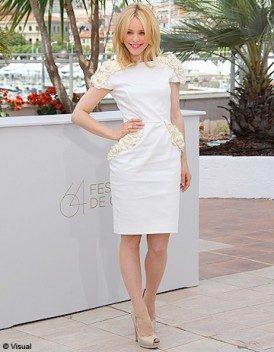 Look du jour : Rachel Mc Adams en Maxime Simoens à Cannes