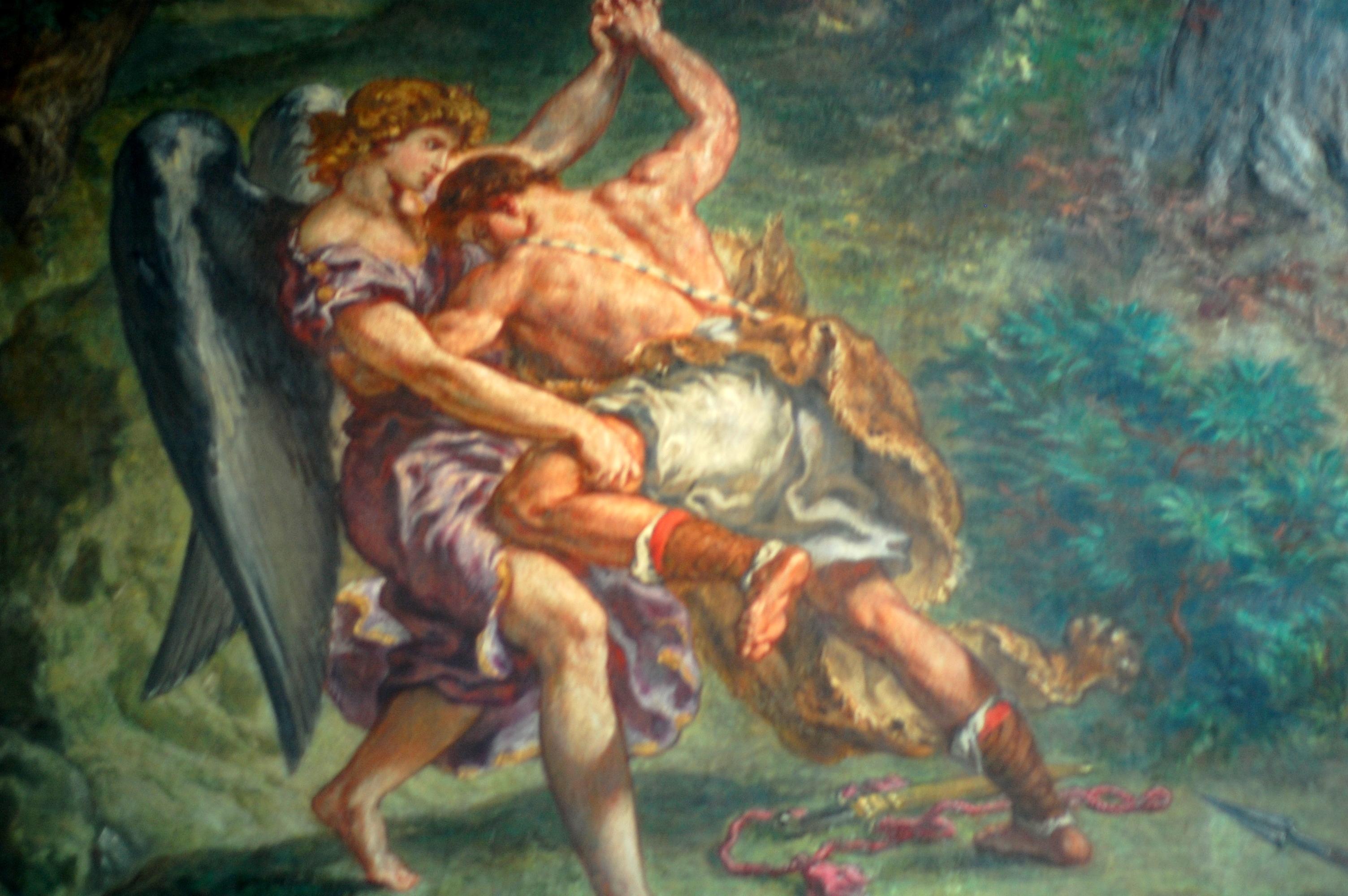 Résultats de recherche d'images pour «La lutte de Jacob avec l'ange»