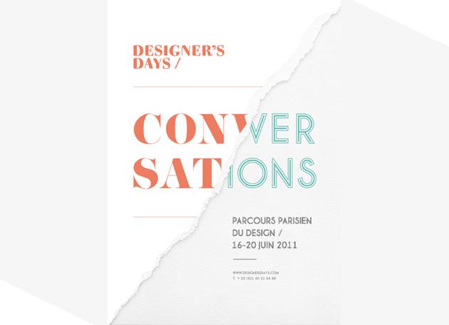 Designer's Days-Parcours parisien du design du 16 au 20 juin 2011