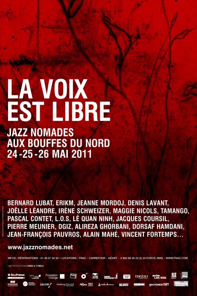 La voix est libre, demandez le programme du 24 au 26 mai aux Bouffes du Nord.