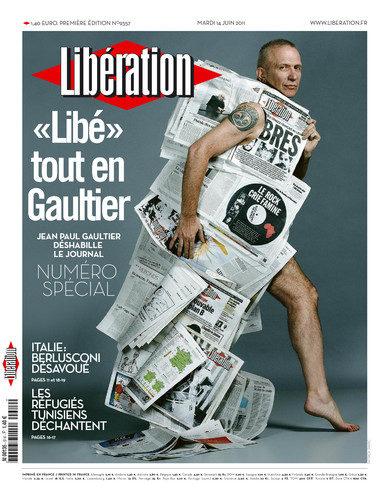 Libération s'habille en Jean Paul Gaultier