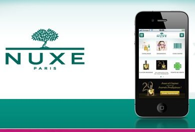 L'appli Nuxe maintenant sur Iphone