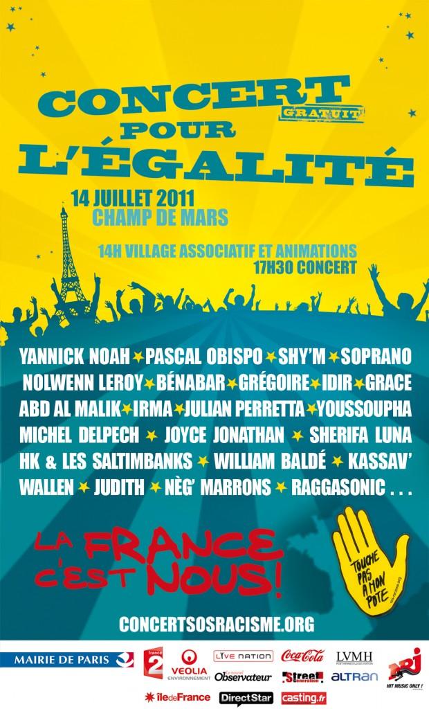 Gagnez vos places: Tiken Jah Fakoly, VV Brown, Mélissa Nkonda le 14 juillet 2011 au concert SOS Racisme