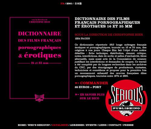 dictionnaire des films fran ais pornographiques et rotiques toutelaculturedictionnaire des. Black Bedroom Furniture Sets. Home Design Ideas