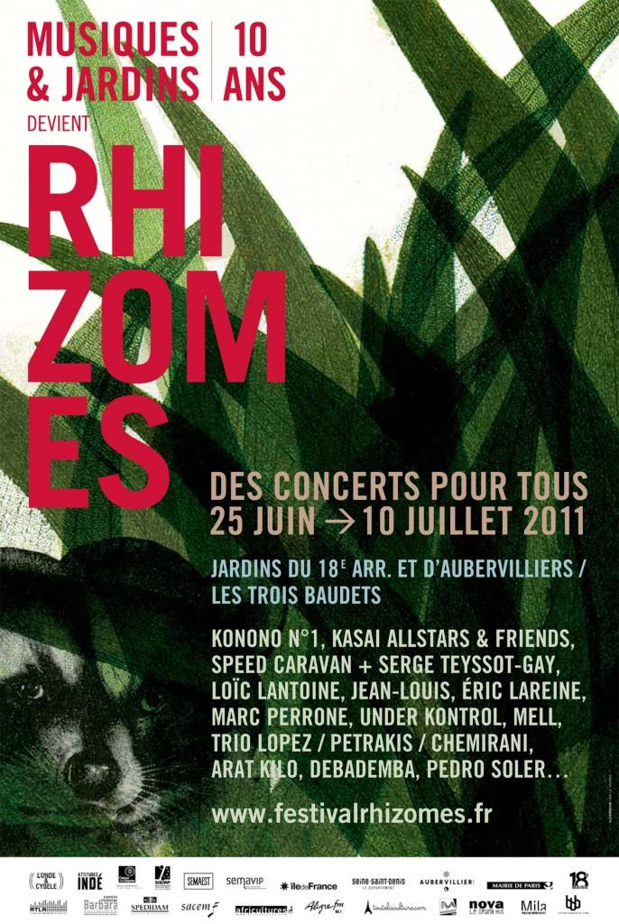 Le festival Musiques et Jardins devient Rhizomes!
