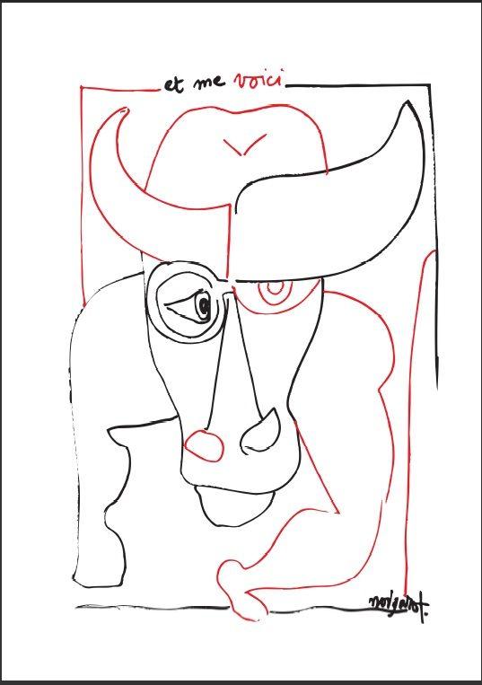 « Et me voici », les dessins et manuscrits de Claude Nougaro exposés à l'Alliance Française