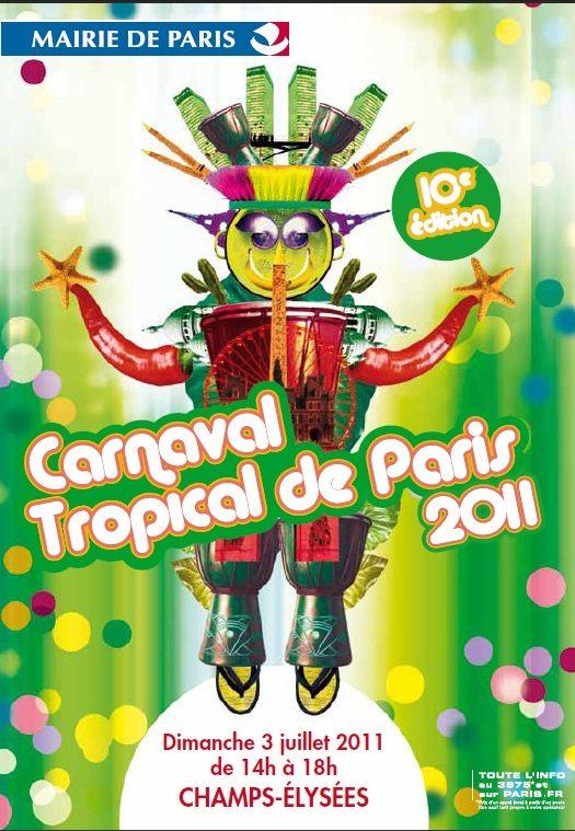 Carnaval Tropical sur les Champs-Elysées!