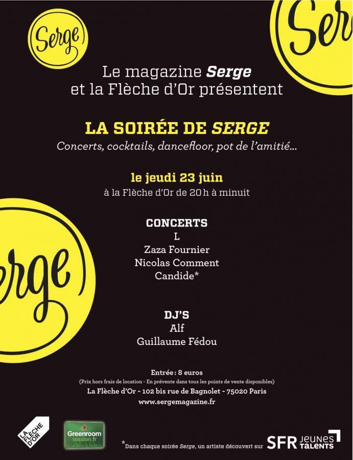 Soirée Serge à la Flèche d'Or le 23 juin 2011!
