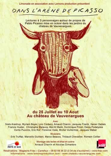Les plus grands comédiens de théâtre réunis au château de Vauvenargues pour célébrer Picasso