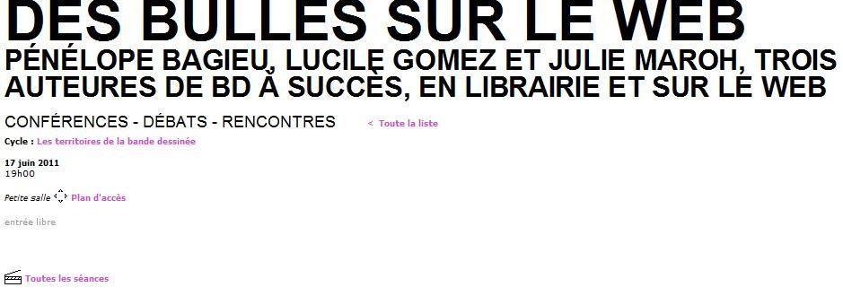 Les bloggeuses font des bulles, vendredi 17 juin au Centre Pompidou
