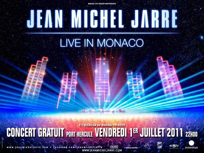Concert de Jean-Michel Jarre en direct de Monaco lors du mariage princier sur Nostalgie