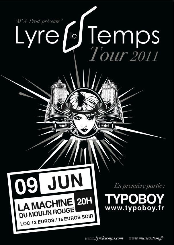 Lyre Le Temps à la Machine du Moulin Rouge le 9 juin 2011