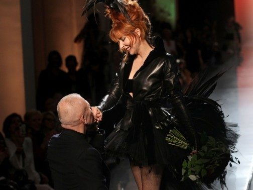Défilé Jean Paul Gaultier : La mariée était en noir et c'était Mylène Farmer