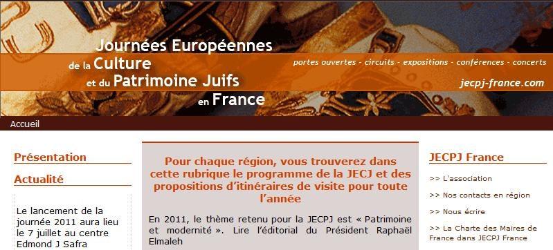 Les journées européennes de la culture et du patrimoine juifs, sept-nov 2011