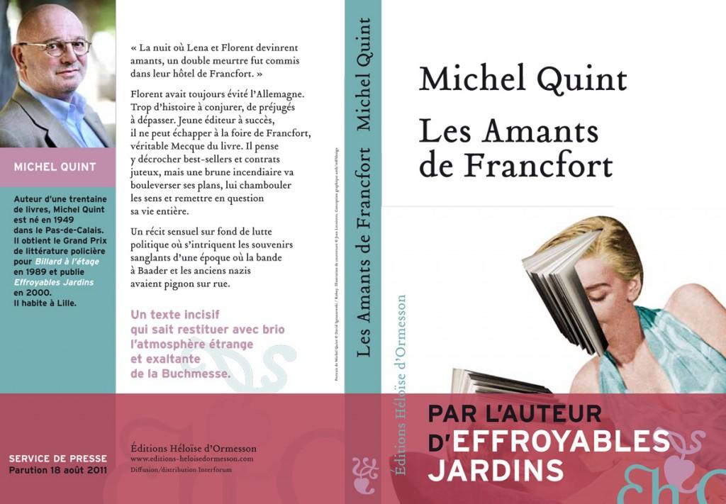 Les amants de Francfort : thriller amoureux en Allemagne, par Michel Quint