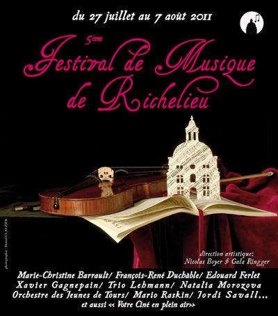 Le Festival de Musique de Richelieu, du 27 juillet au 7 août 2011
