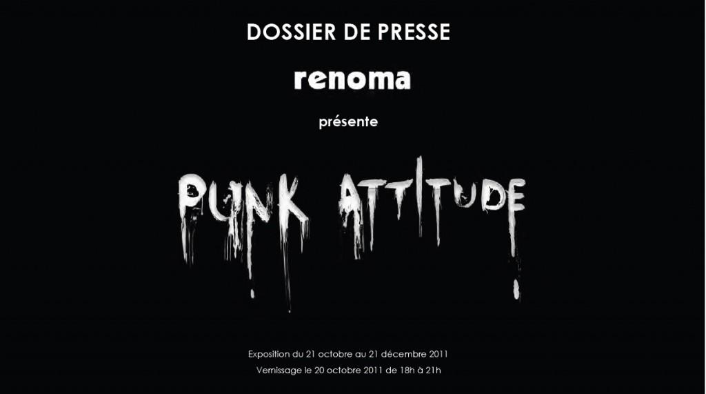 PUNK ATTITUDE chez Renoma à partir du 21 octobre prochain