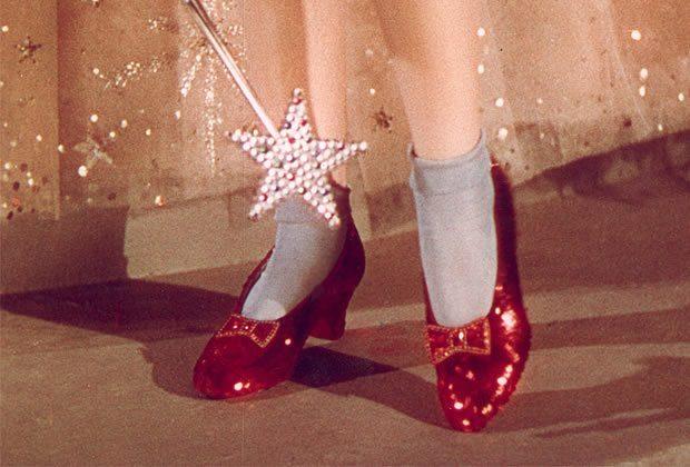 Les souliers de rubis du Magicien d'Oz sont à vendre !