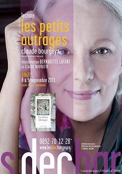 L'actrice Bernadette Lafont lit Les petits outrages de Claude Bourgeyx les 8 et 9 septembre