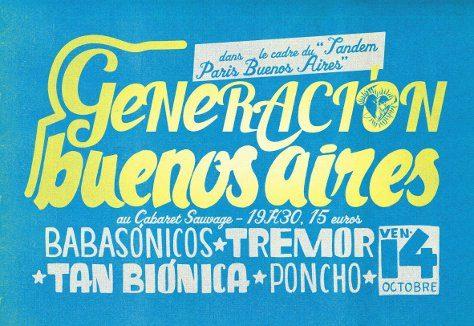 Gagner 3×2 places pour la soirée Generacion Buenos Aires au Cabaret Sauvage