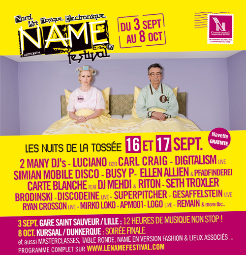 Le NAME Festival : Lille va vibrer au son de l'électro