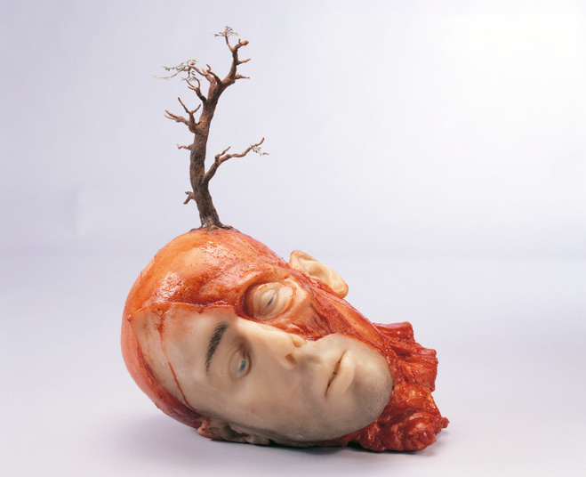 John-Isaacs_Thinking-about-it_2002_Wax_-wire_-plaster_-silicone_38_1x30_48x33_02cm_courtesy-Feige_large