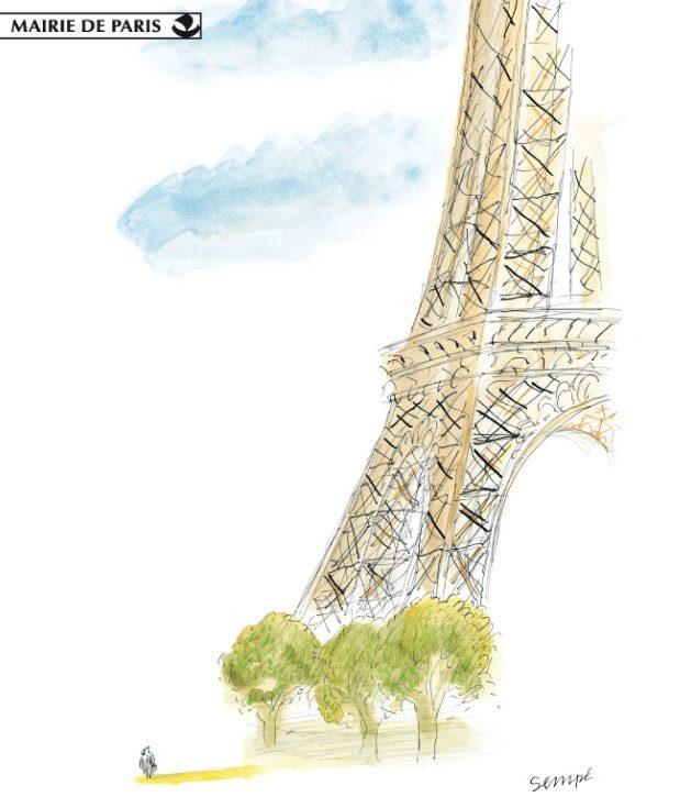 La poésie du parisien Sempé s'empare de l'Hotel de Ville : prolongations