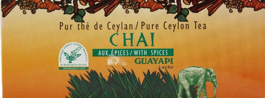 Thé chaï aux épices Guayapi, relax now !