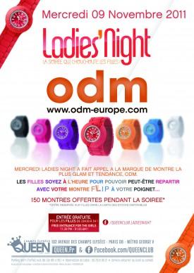 Gagnez 5×2 places pour la Ladies Night du 9 novembre au Queen