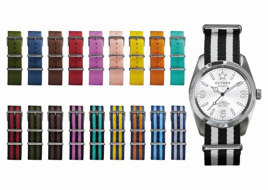 Oxygen, la montre internationale au bracelet interchangeable